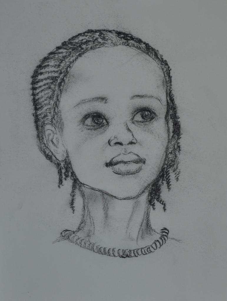 Ritratto di bambina -2011 carboncino su carta 2011