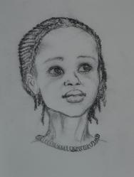 Ritratto di bambina - 2011 carboncino su carta 32x24