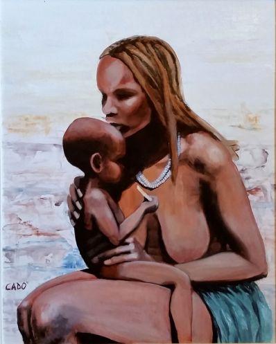Maternità - 2014 olio su tela 50x40