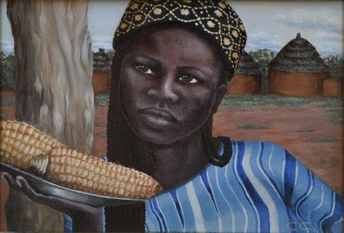 Ragazza col cappello - 2009 olio su tela 25x35